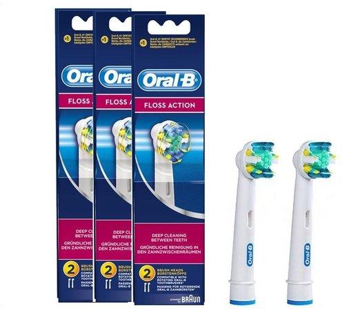 Oral-B Oral-B Floss Action Opzetborstels 3 x 2 Stuks - Voordeelverpakking