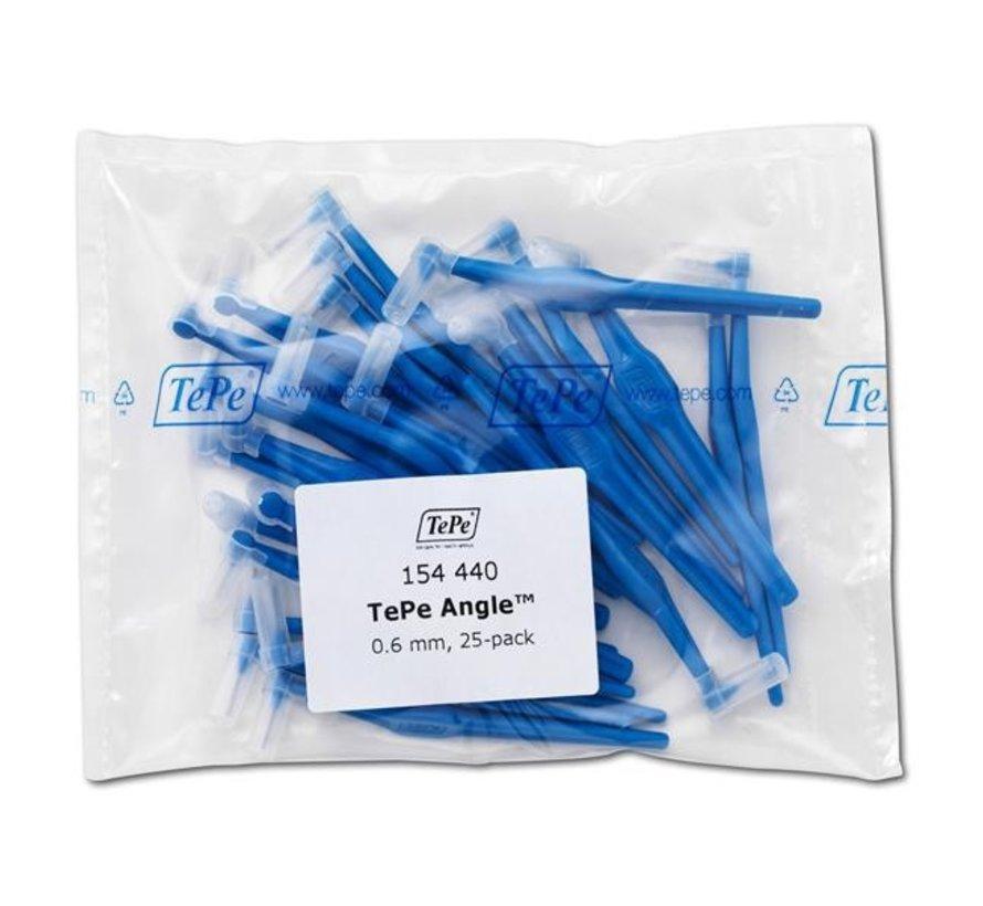 Tepe Angle Blauw 0.6 mm - 3 x 25 stuks - Voordeelverpakking