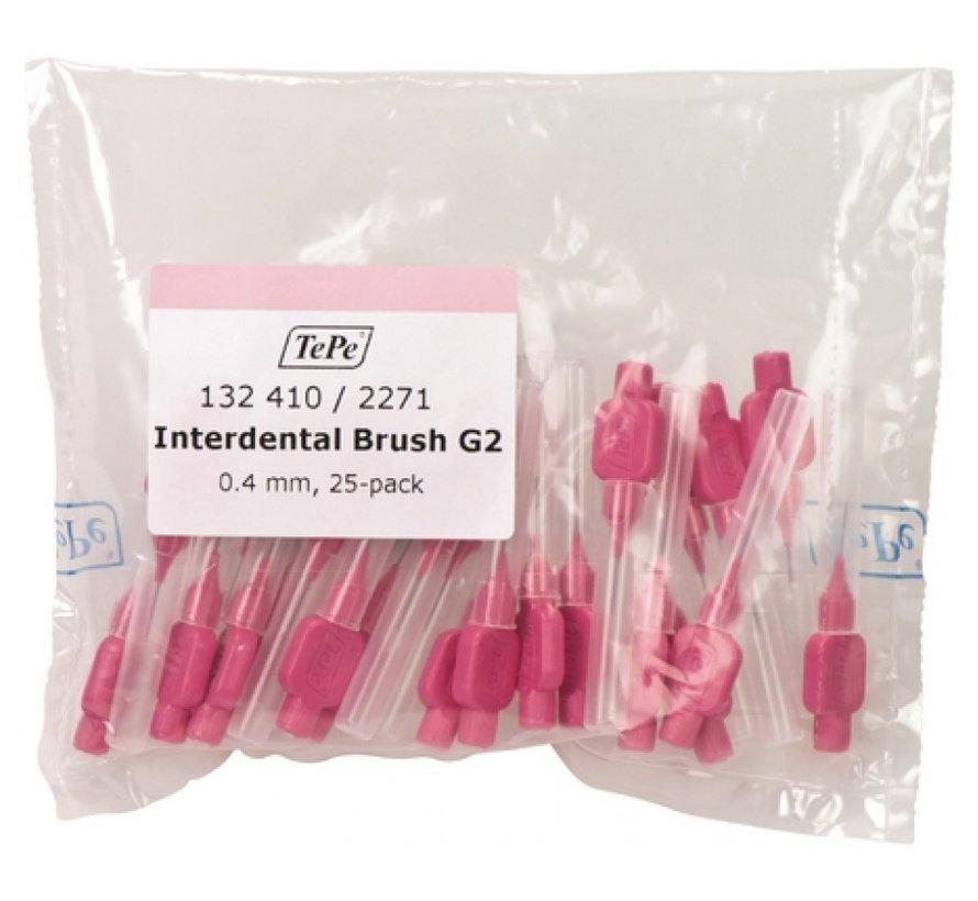 TePe Interdentale Ragers Origineel 0.4 mm Roze - 3 x 25 stuks - Voordeelverpakking