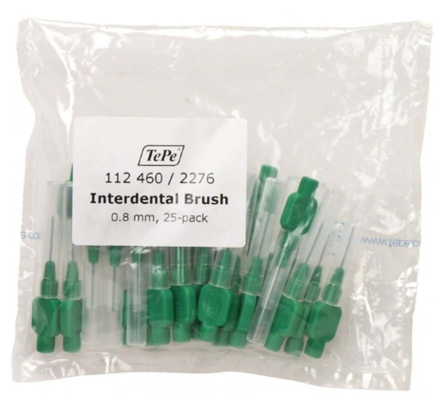 Tepe Interdentale Rager Origineel 0.8 mm Groen - 3 x 25 stuks - Voordeelverpakking