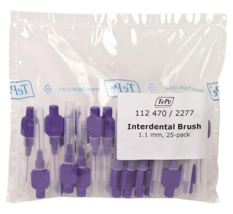 Tepe Interdentale Rager Origineel 1.1 mm Lila - 3 x 25 stuks - Voordeelverpakking