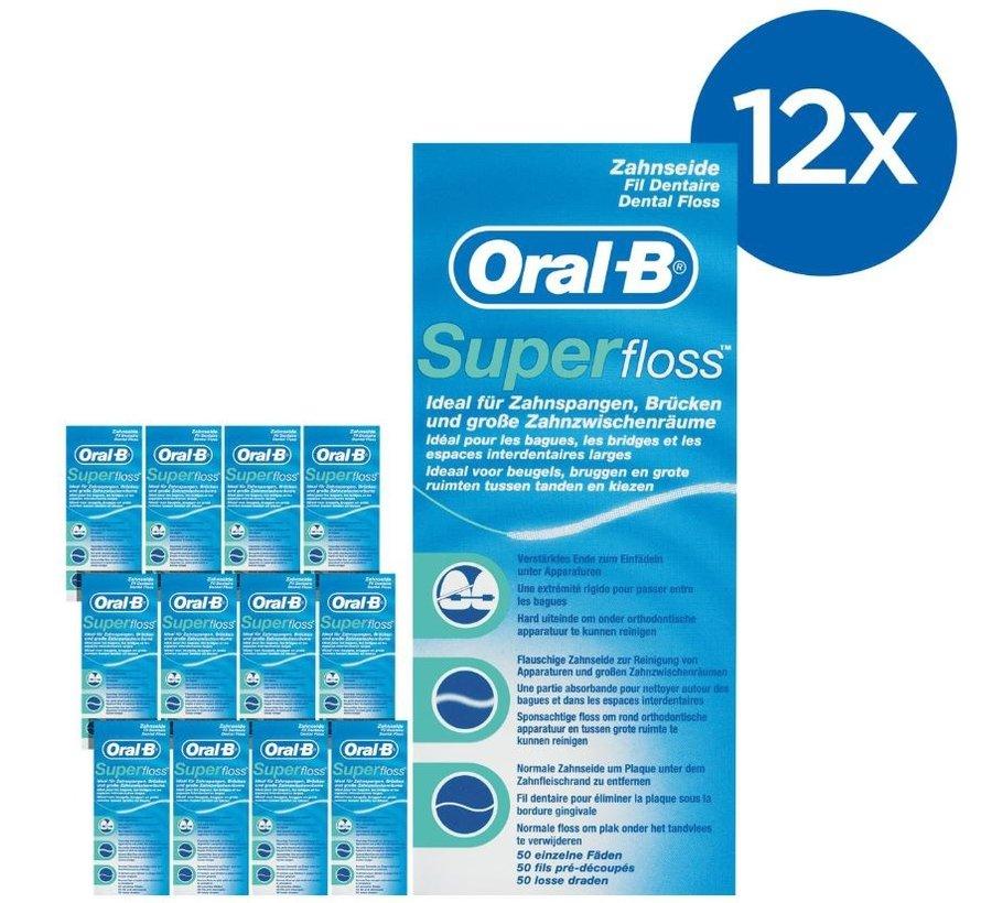 Oral-B Superfloss- 12 Stuks - Voordeelverpakking