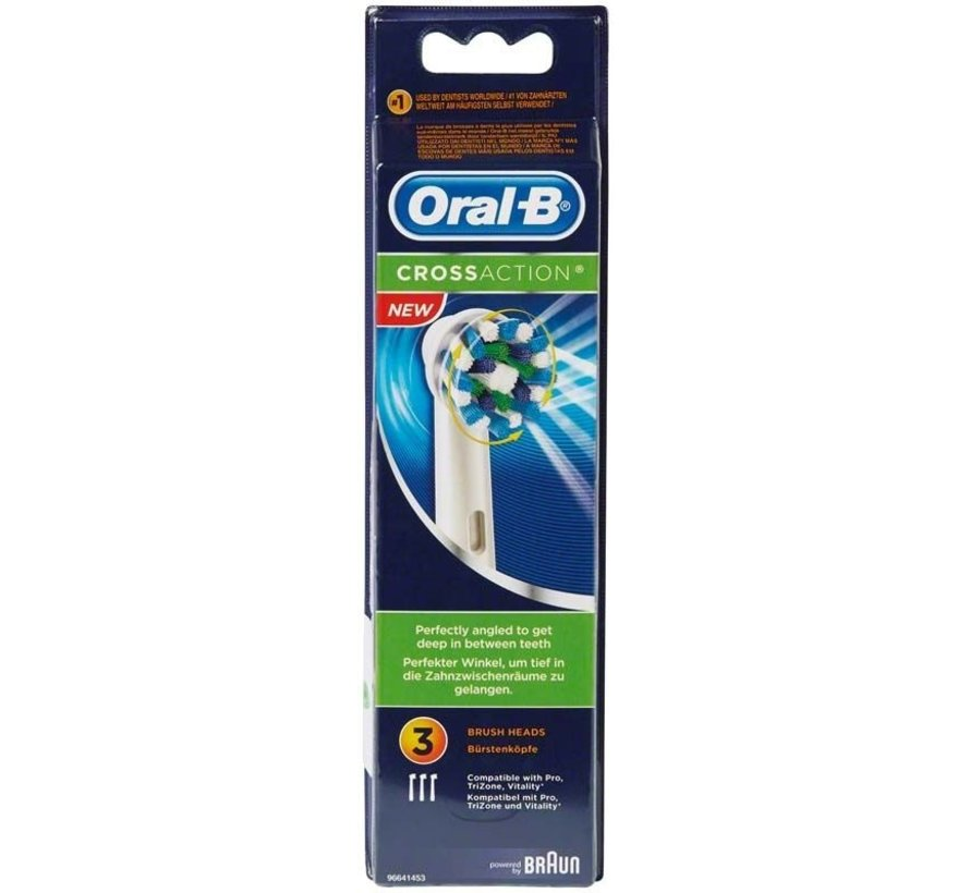 Oral-B Cross Action Opzetborstels - 3 Stuks