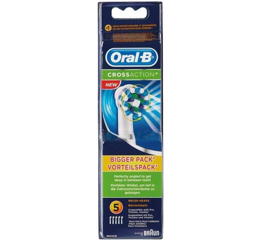 Oral-B Cross Action Opzetborstels - 5 Stuks