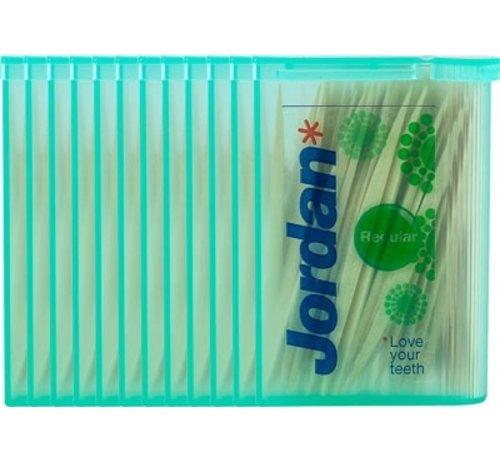 Jordan Jordan Tandenstokers Double Ended Regular - 12X 100 St - Tandenstoker - Voordeelverpakking