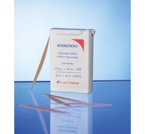 Lactona Lactona Intersticks - 3 X 100 Stuks - Tandenstoker - Voordeelverpakking