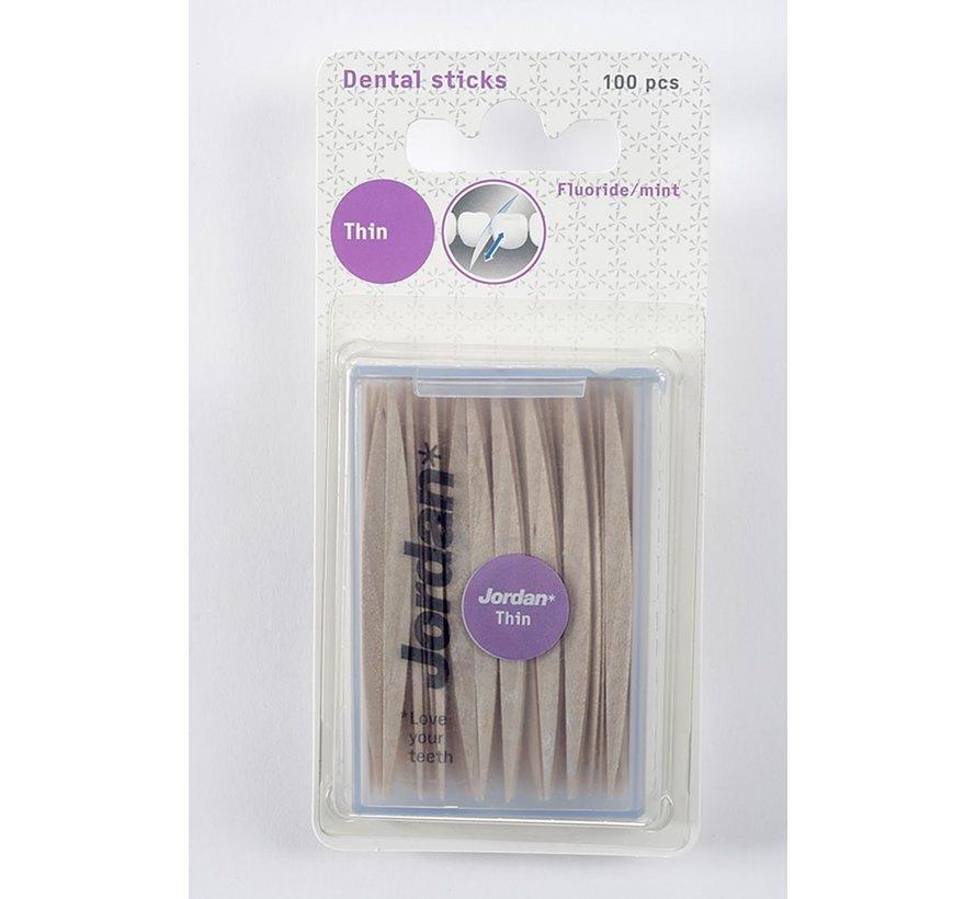 Jordan Dun 2-Zijdig - 2X 100 St - Tandenstoker - Voordeelverpakking
