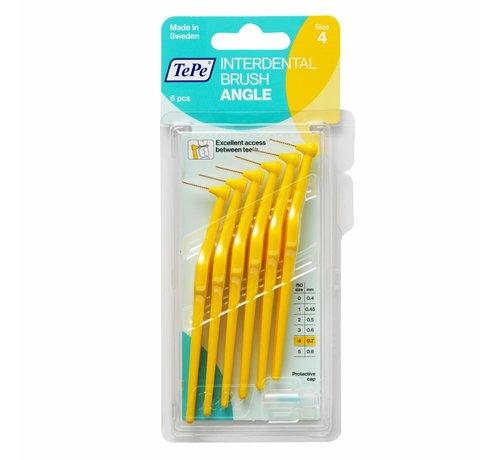 TePe Tepe Angle Interdentale Ragers 0.7 mm Geel - 6 stuks