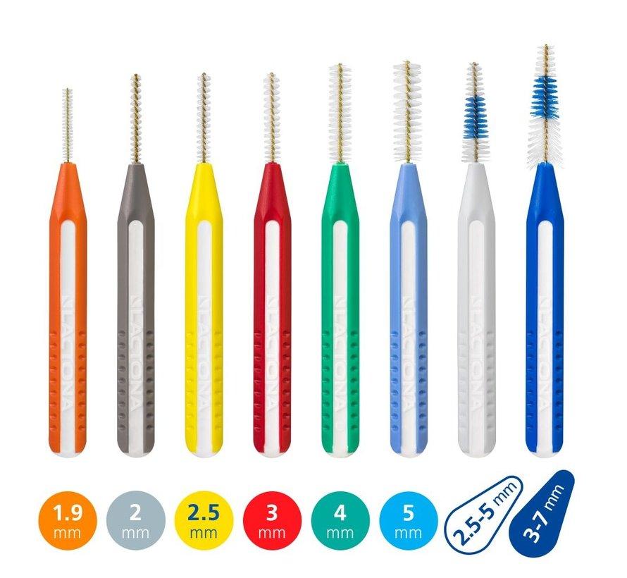 Lactona Easygrip Tandenragers Recht-Medium 5mm Lichtblauw