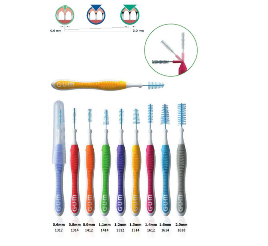 Gum Travler Ragers 1.1mm Groen - 6 stuks