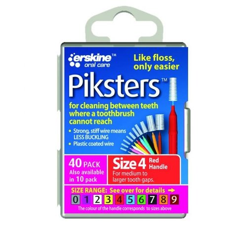 Piksters Piksters 4 Rood 0.65mm - 40 Stuks