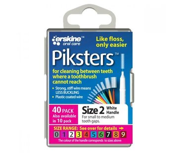 Piksters Piksters 2 Wit 0.55mm - 40 Stuks