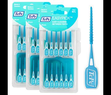 TePe Tepe Easypick M/L - Turquoise - 3 Stuks - Voordeelverpakking