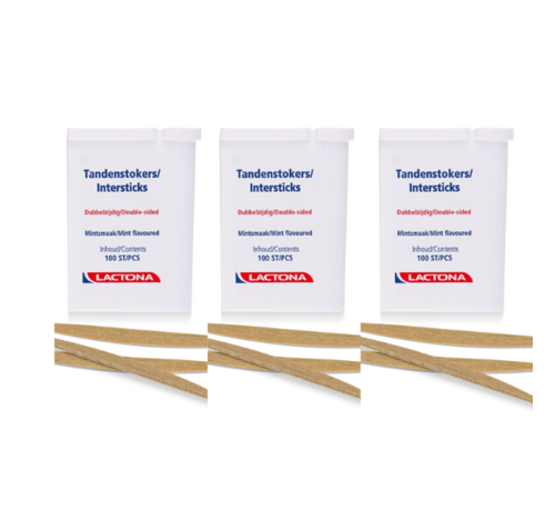 Lactona Lactona Intersticks - 3x 100 Stuks - Tandenstoker - Voordeelverpakking
