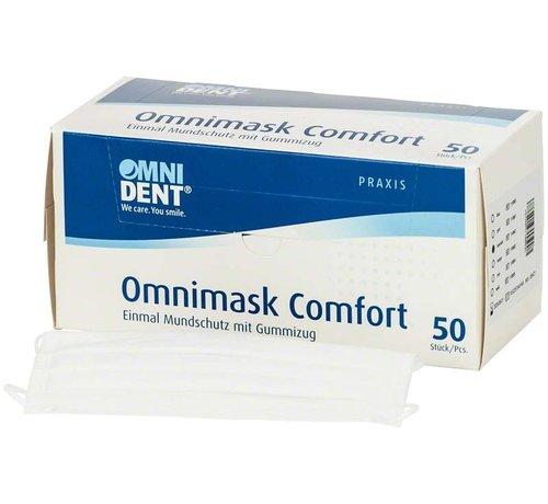 Omnimask Omnimask Comfort met elastiek - 50 stuks - WIT - Copy