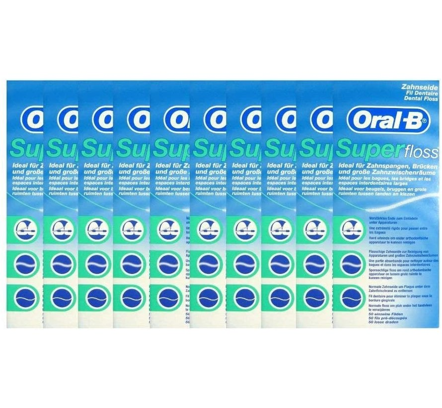 Oral-B Superfloss- 10 Stuks - Voordeelverpakking - Copy - Copy