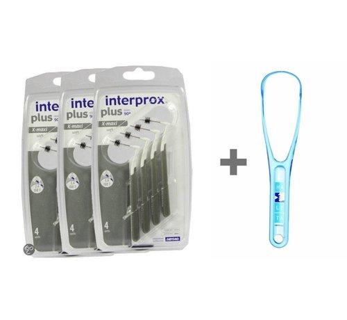 Interprox Interprox Plus X-Maxi Grijs 3x6 stuks + halita tongreiniger