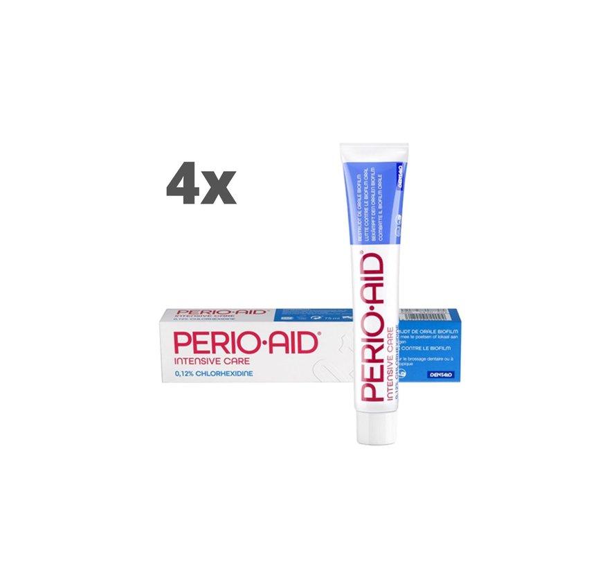 4x Perio-Aid Intensive Care Gel Tandpasta