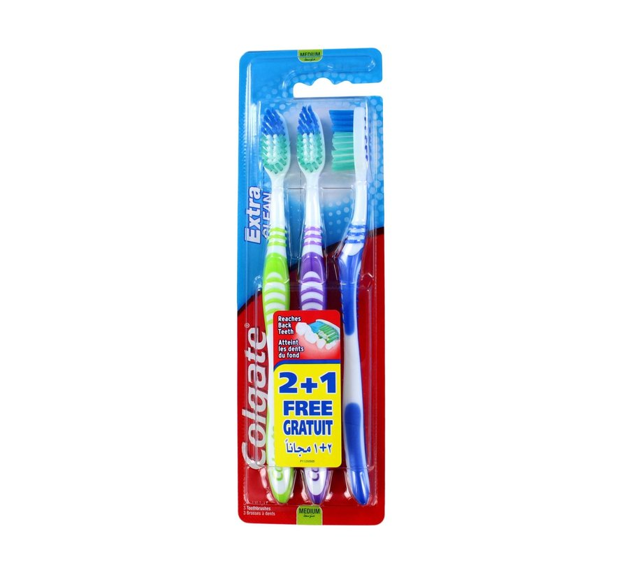 Colgate Tandenborstel Extra Clean - 3 stuks