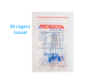 Lactona EasyDent Type C 6 - 11mm - Ragers - 10 gripzak x 5 stuks - Met gratis beschermhouder - Voordeelpakket