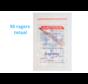 Lactona Interdentaal Ragers - X-Small 3,1mm - Rood - 10 gripzak x 5 stuks - Met gratis beschermhouder - Voordeelpakket