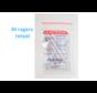 Lactona Interdentaal Ragers - XX-Large 12mm - Donkerrood - 6 gripzak x 5 stuks - Met gratis beschermhouder - Voordeelpakket