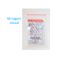 Lactona Interdentaal Ragers - XX-Large 12mm - Donkerrood - 10 gripzak x 5 stuks - Met gratis beschermhouder - Voordeelpakket