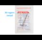 Lactona Interdentaal Ragers - XX-Small Long 2,5mm - Geel - 6 gripzak x 5 stuks - Met gratis beschermhouder - Voordeelpakket