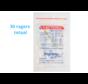 Lactona Interdentaal Ragers - XX-Small Short 2,5mm - Geel - 6 gripzak x 5 stuks - Met gratis beschermhouder - Voordeelpakket