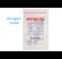 Lactona Interdentaal Ragers - XXX-Small 2mm - Zilver - 10 gripzak x 5 stuks - Met gratis beschermhouder - Voordeelpakket