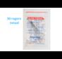 Lactona Interdentaal Ragers - Large/Medium 6,5mm - Zwart - 6 gripzak x 5 stuks - Met gratis beschermhouder - Voordeelpakket
