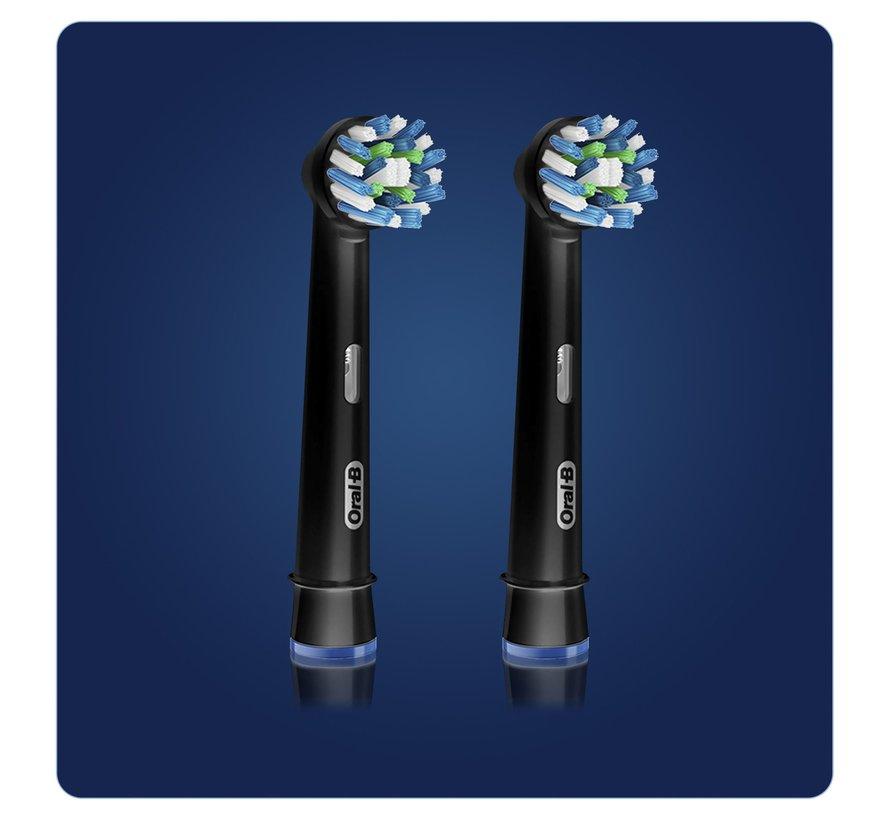 Oral-B Cross Action Black Edition Opzetborstels - 2 Stuks