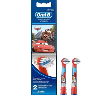 Oral-B Oral-B Stages Power Kids Opzetborstels Cars - 2 stuks