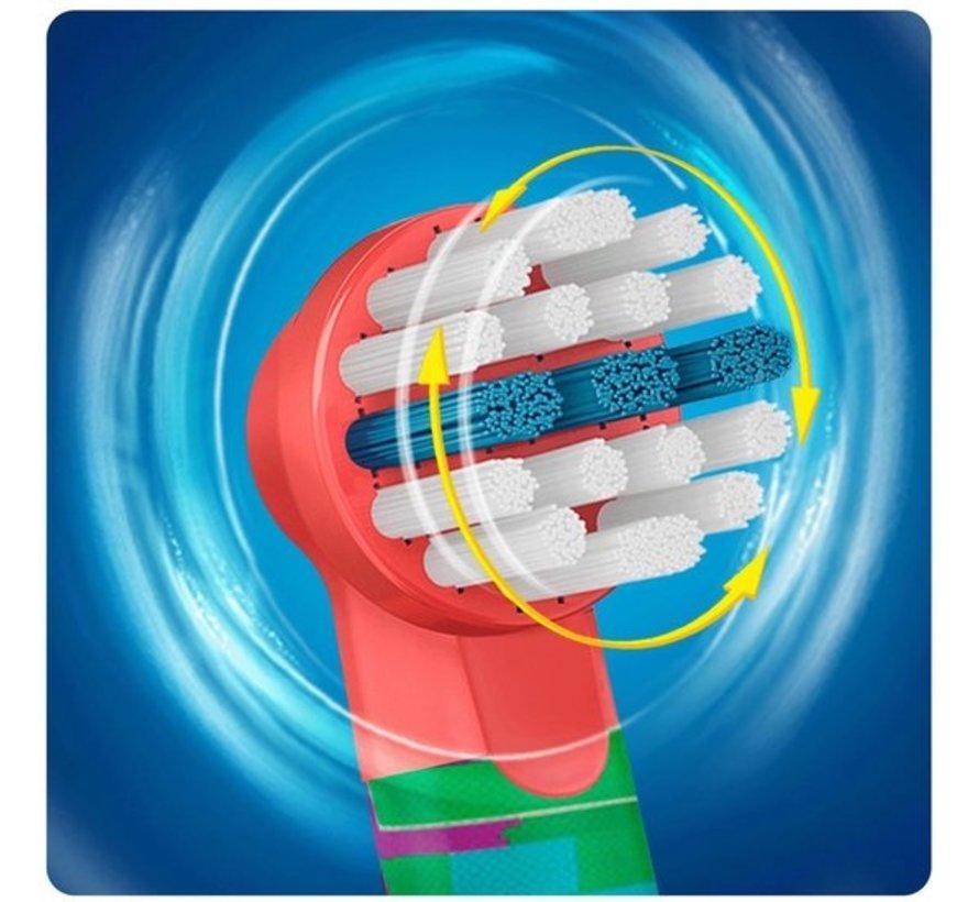 Oral-B Stages Power Kids Opzetborstels Cars - 4 stuks - Voordeelverpakking