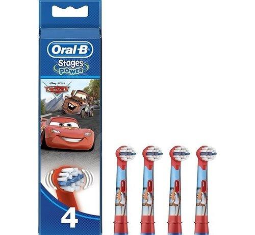 Oral-B Oral-B Stages Power Kids Opzetborstels Cars - 4 stuks - Voordeelverpakking
