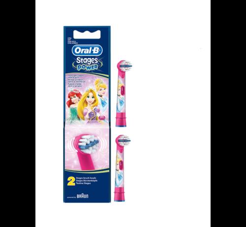 Oral-B Oral-B Stages Power Kids Opzetborstels Princess - 2 stuks