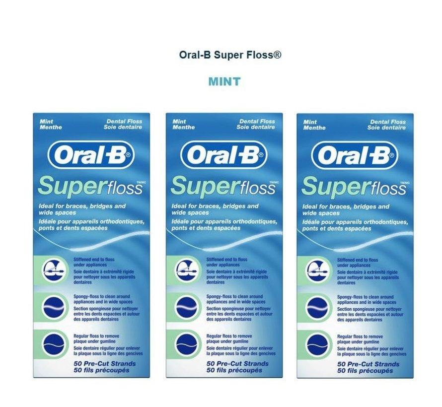 Oral-B Superfloss - 3 x 50 stuks - Flosdraad - Voordeelverpakking