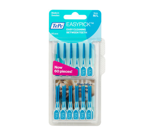 TePe Tepe Easypick M/L - Turquoise - 60 Stuks