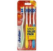 Jordan Jordan Total Clean Soft Tandenborstel - 4 stuks