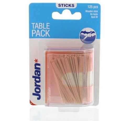 Jordan Jordan Tandenstokers Table Pack - 125 stuks