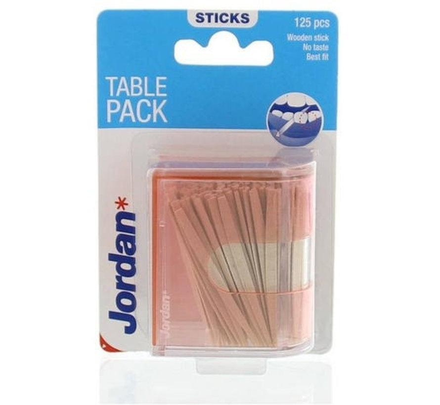 Jordan Tandenstokers Table Pack - 125 stuks