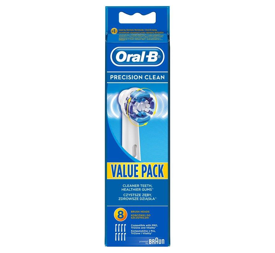 Oral-B Precision Clean Opzetborstels - 8 stuks