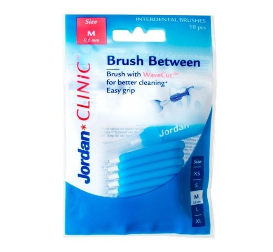 Jordan Clinic Brush Between - maat M (0,6 mm)