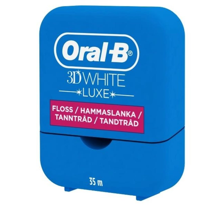 2x Oral-B 3D White Luxe Whitening Floss 35m