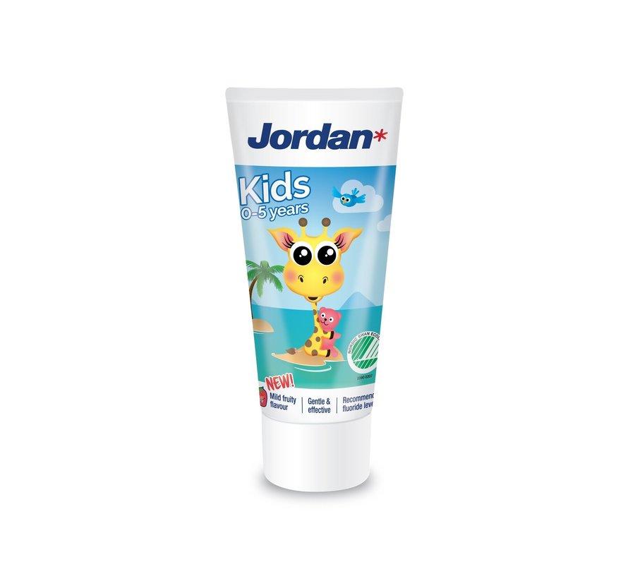 Jordan Tandpasta Kids (0-5 jaar) - 4 stuks - Voordeelverpakking