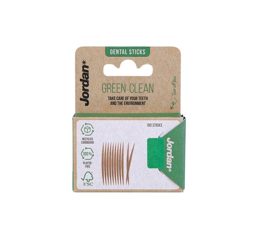 Jordan Tandenstokers Green Clean - 100 stuks
