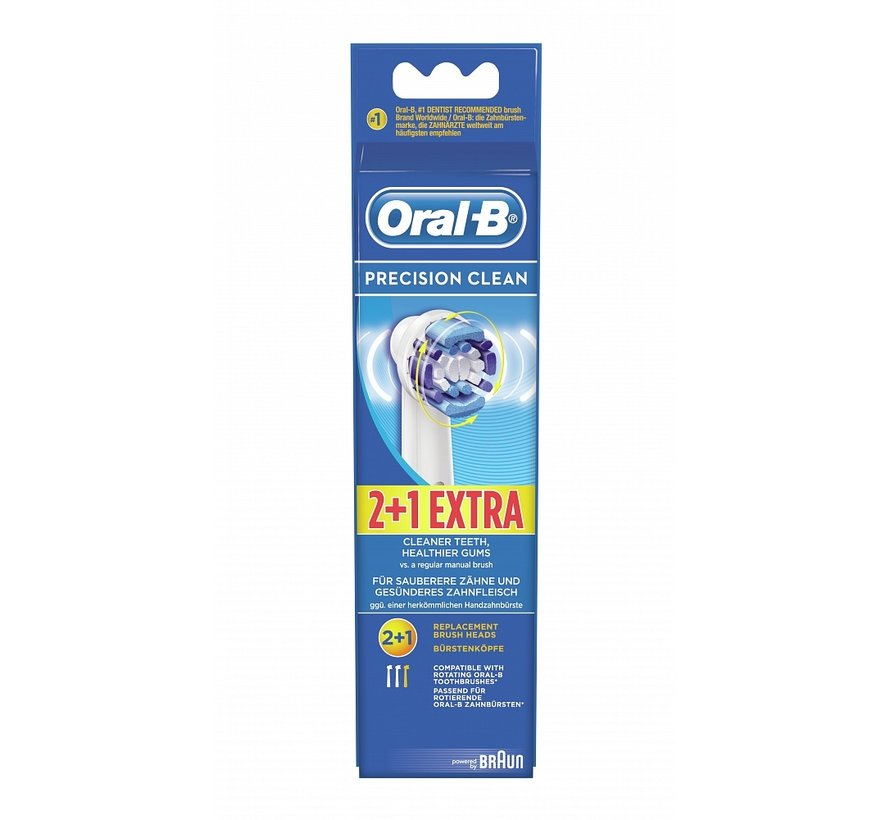 Oral-B Precision Clean Opzetborstels - 2 + 1 gratis