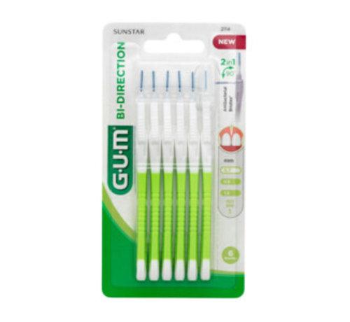 GUM 4x GUM Bi-Directions 0,7mm - 6 stuks