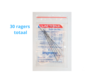 Lactona Interdentaal Ragers - Large/Medium 6,5mm - Zwart - 6 gripzak x 5 stuks