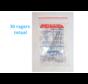 Lactona Interdentaal Ragers - X-Large 10mm - Transparant - 6 gripzak x 5 stuks - Met gratis beschermhouder - Voordeelpakket